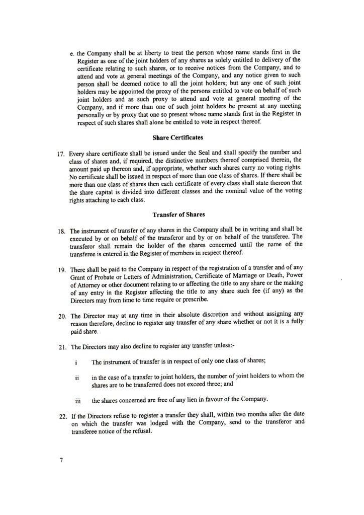 Hong kong offshore zones offshore and international law gsl hong kongmemorandum and articles of association page 8 yadclub Images