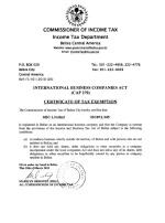 Belize_Tax-Certificate Page: 1