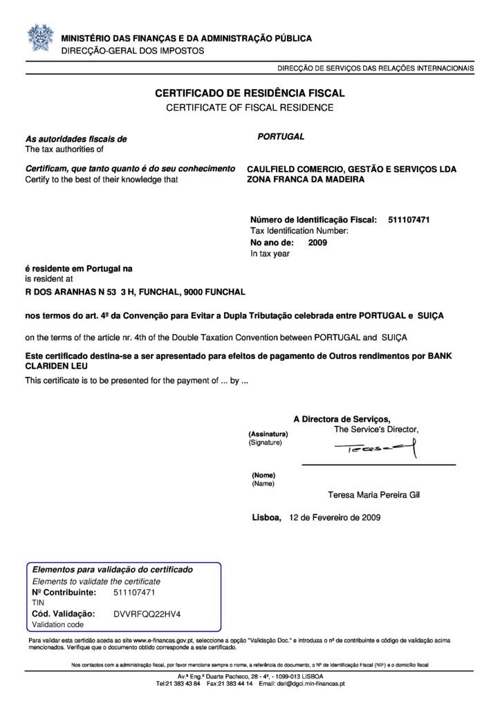Contemporáneo Tax Residency Certificate Adorno - Cómo conseguir mi ...