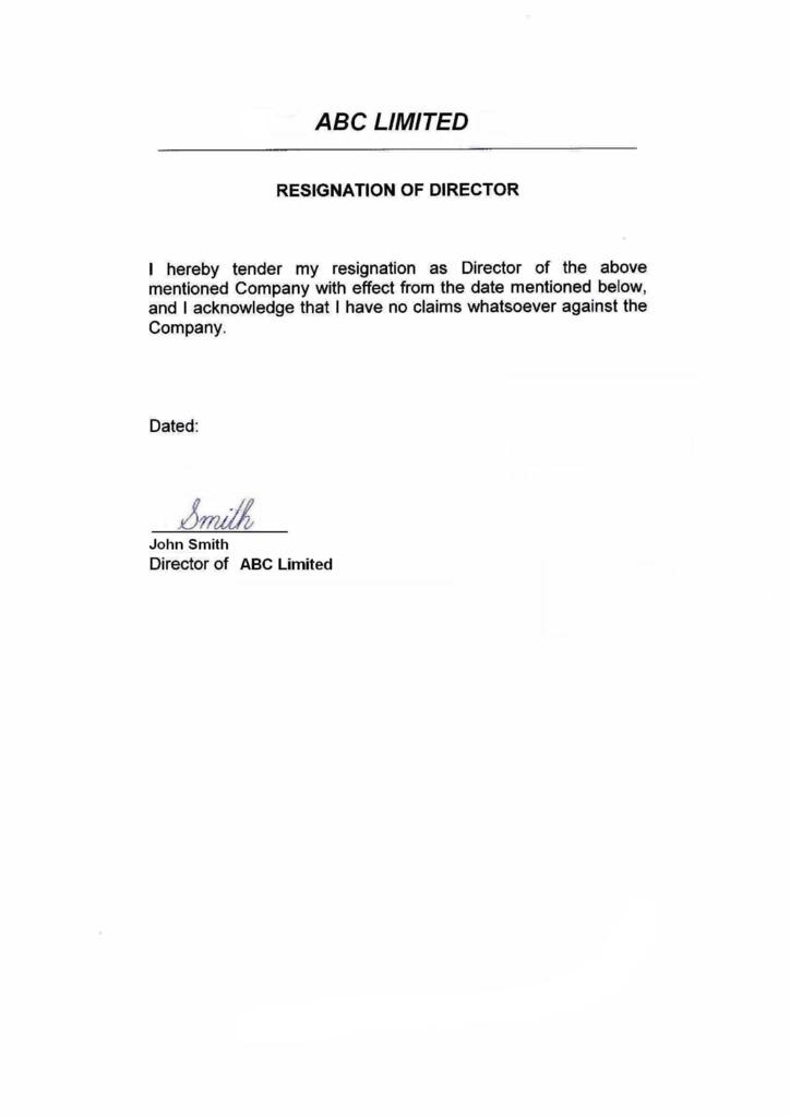 Format Of Resignation Letter From Teaching Job