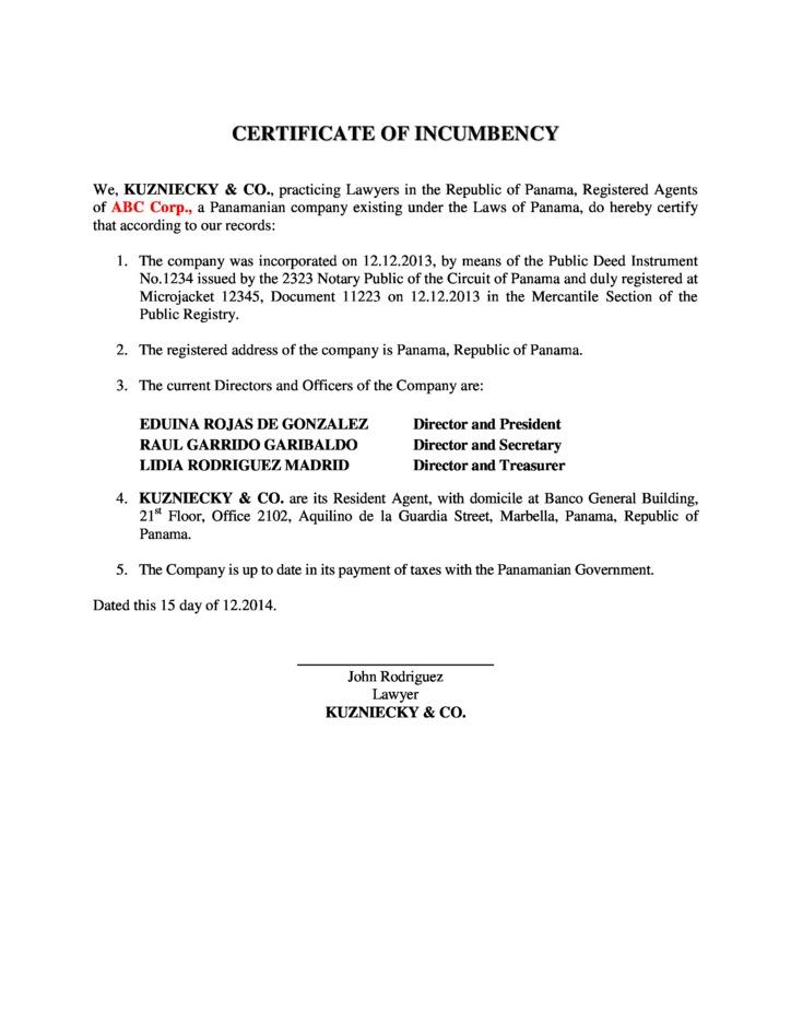 Certificate of incumbency template free gallery certificate design and template for Certificate of incumbency template