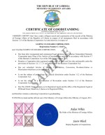 Liberia_Certificate of Goodstanding Page: 1