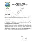 Liberia_Tax Certificate Page: 1