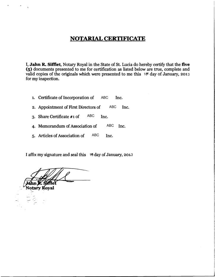 Bound Set Of Apostilled Documents