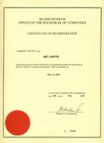 Nevis_Apostilled-Certificate-of-Incorporation Page: 1