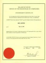 Nevis_Endorsement-Certificate Page: 1