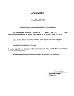 Nevis_Minutes-of-the-Organizational-Meeting-of-the-Organizer Page: 1