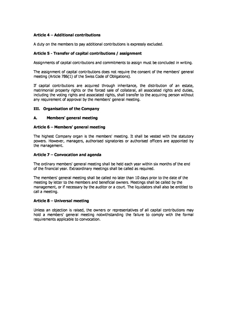 Switzerland offshore zones offshore and international law gsl switzerland articles of incorporation page 2 switzerland articles of incorporation page 2 yadclub Choice Image