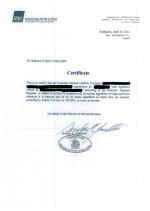 Tax certificate Page: 1