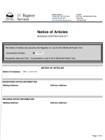 Canada_BC_Articles of Incorporation Page 1 Shot