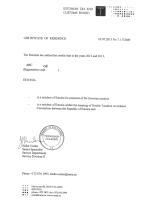 Estonia_Tax Certificate Page 1 Shot