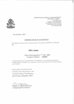 Bahamas_Tax Exemption Certificate Page 1 Shot