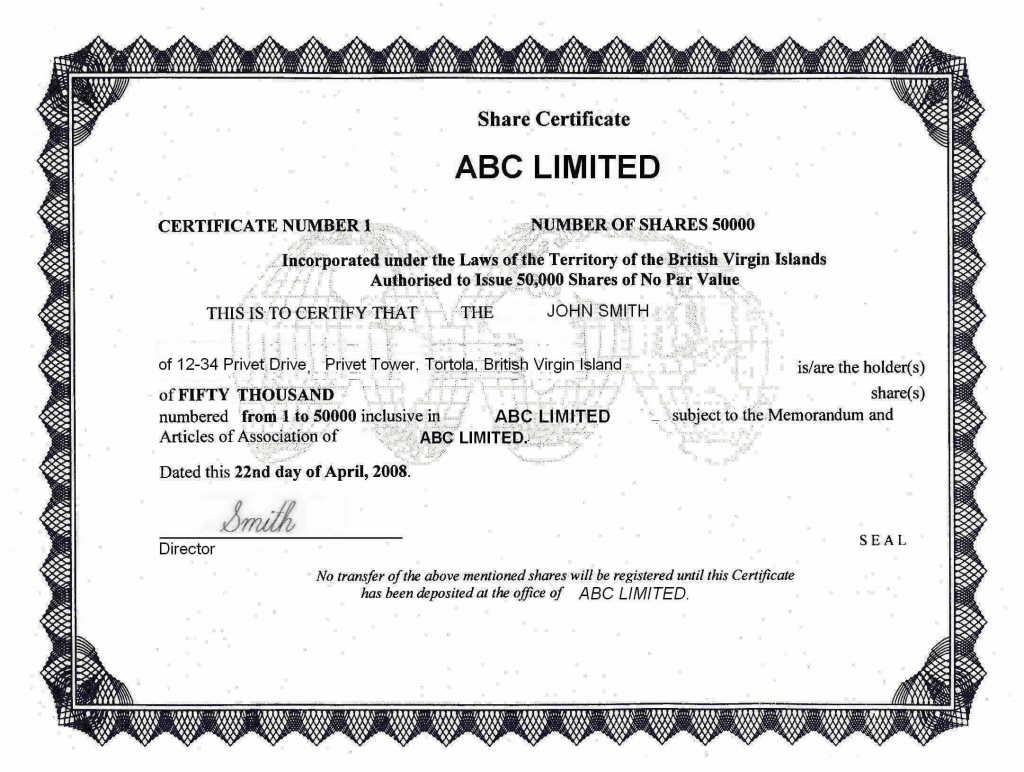 British virgin islands offshore zones offshore and for Free share certificate template bc