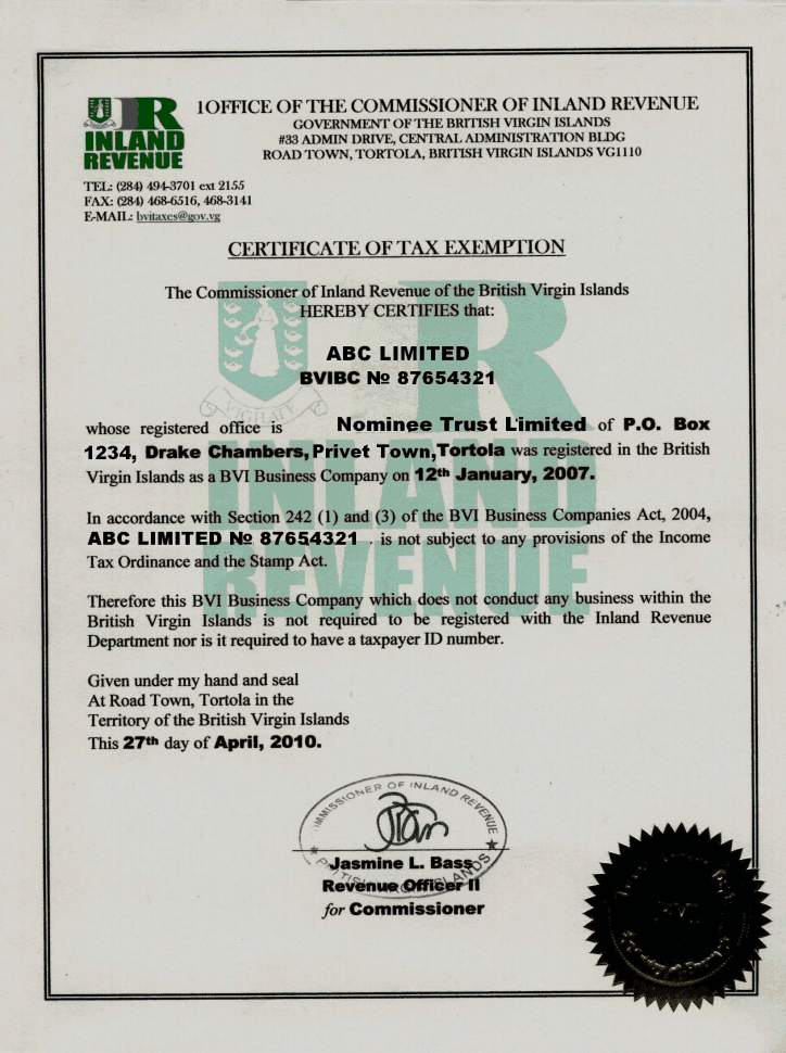 bvi_tax certificate page 1 shot