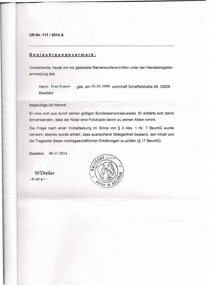 vorbefassung gemäß § 3 abs. 1 nr. 7 beurkg