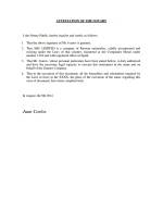Spain_Attestation of the Notary Page 1 Shot