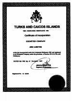 Turks-Caicos_Certificate-of-Incorporation Page 1 Shot
