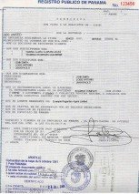 Panama_Apostilled Extract of public registry of Panama in English and Spanish.pdf Page: 1