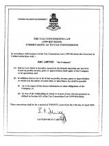 Cayman Islands_Tax Certificate.pdf Page: 1