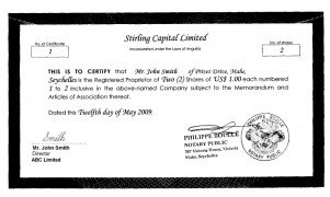 Anguilla_Share Certificate.pdf Page: 1