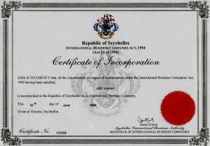 Seychelles_certificate of incorporation.pdf Page: 1