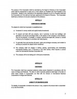 Ordinary Corporate Documents- Bearer Page: 2