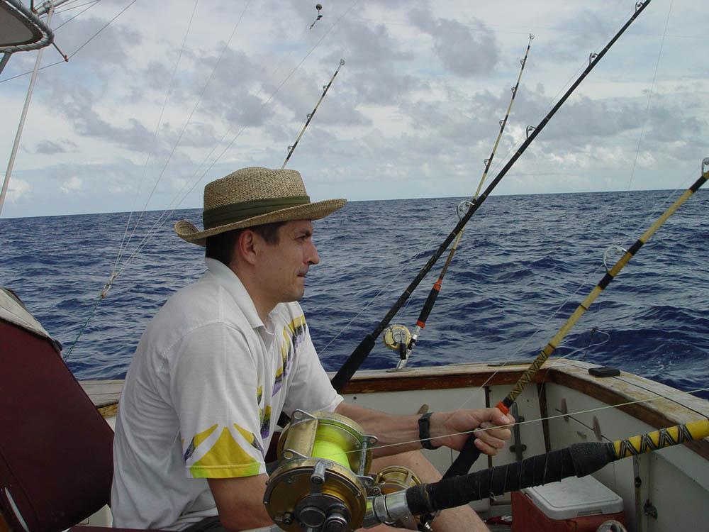Партнер на Карибской рыбалке.