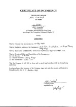 Certificate of Incumbency Page: 1