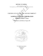 Liberia_Certificate of Election and Incumbency Page: 1
