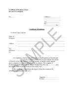 Thailand Certificate of Residence Form Page: 1