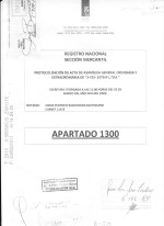 Costa Rica_Registered Deed of Initial reforms (appointment of owners as managers) Page: 1