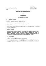 Switzerland _Articles of Incorporation Page: 1