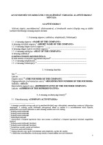 Hungary_Basic Set of Corporate Docs Page: 1