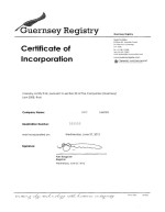 Guernsey_Certificate of Incorporation Page: 1