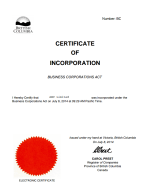 Canada_BC_Certificate of Incorporation Page 1 Shot