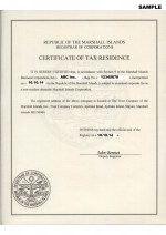 Marshall Islands_Certificate of Tax Residence Page 1 Shot
