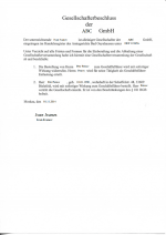 Germany_Shareholder's resolution of change of director Page 1 Shot