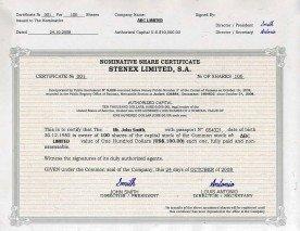 Panama_Share Certificate.pdf Page: 1