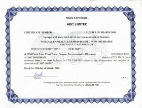 Dominica_Share Certificate.pdf Page: 1