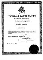 Turks & Caicos_Certificate of Incorporation.pdf Page: 1