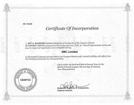 Cayman Island_Certificate of Incorporation.pdf Page: 1