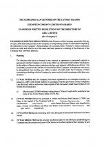 Cayman Island_Unanimous Written Resolutions.pdf Page: 1