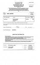 New Zealand_Consent of shareholder or shareholders (Form 3).pdf Page: 1