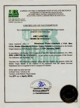 BVI_Tax Certificate.pdf Page: 1