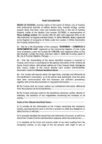 Certificate of good standing (trust declaration) Page: 1