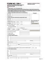 India_Form DIN 1 Page: 1