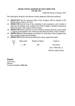 St. Lucia_ First resolutions of director Page: 1
