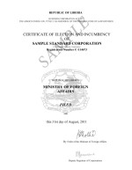 Liberia_Certificate of Election and Incumbency Page: 2