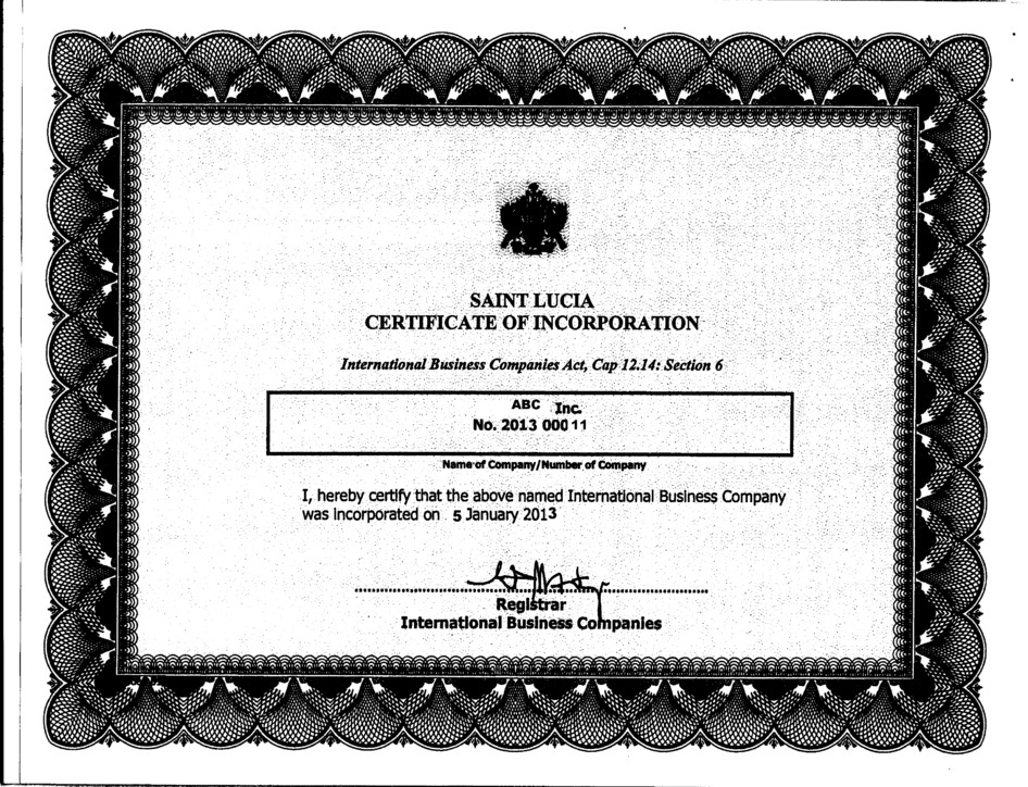 St.Lucia_Bound Set of Apostilled Documents Page: 3