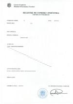 Andorra_Certificat de Inscripcio_Registre de Comerç i Indústria Page: 1